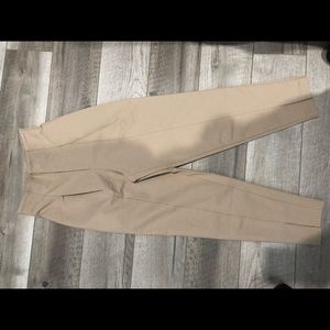 New H&M beige high waisted ankle pants size 0